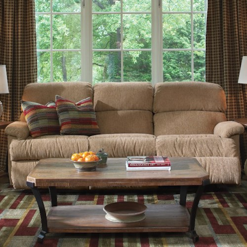 Flexsteel chicago 87 chicago double reclining sofa zak for G furniture chicago
