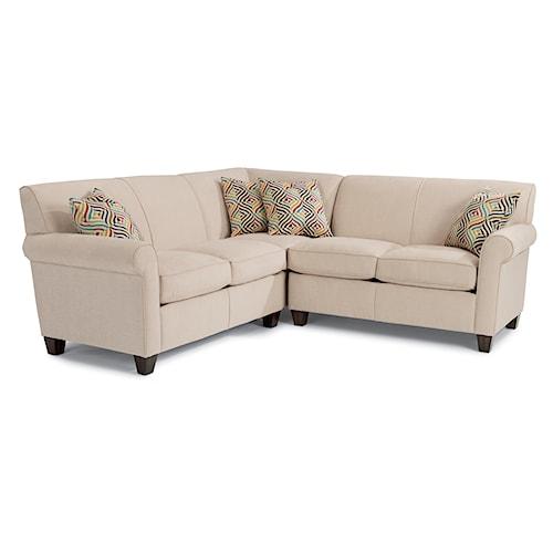 Flexsteel Furniture Uk: Flexsteel Dana Three Piece Corner Sectional Sofa
