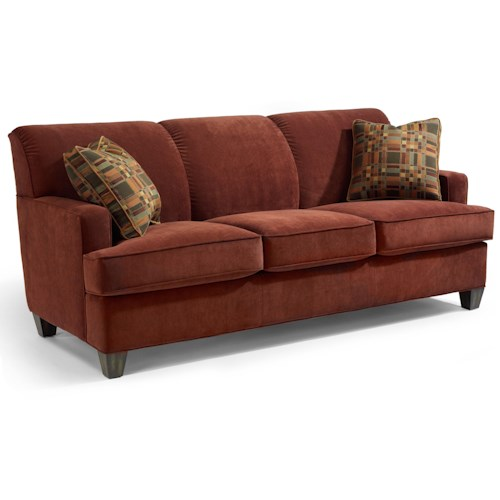 Flexsteel Dempsey Contemporary Sofa With Track Arms John V Schultz Furniture Sofa Erie