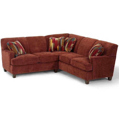 Flexsteel Dempsey Contemporary 2 Piece Sectional Sofa With