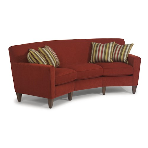 Flexsteel digby contemporary conversation sofa wayside for Conversation sofa