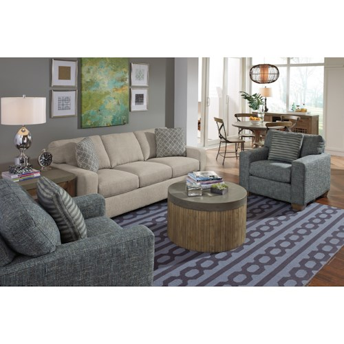 Flexsteel Kennicot Living Room Group Fashion Furniture Upholstery Group Fresno Madera