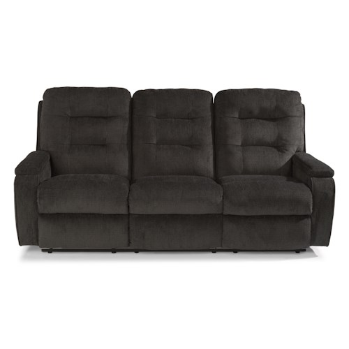 Flexsteel Sofa Locations: Flexsteel Kerrie Casual Biscuit Back Reclining Sofa