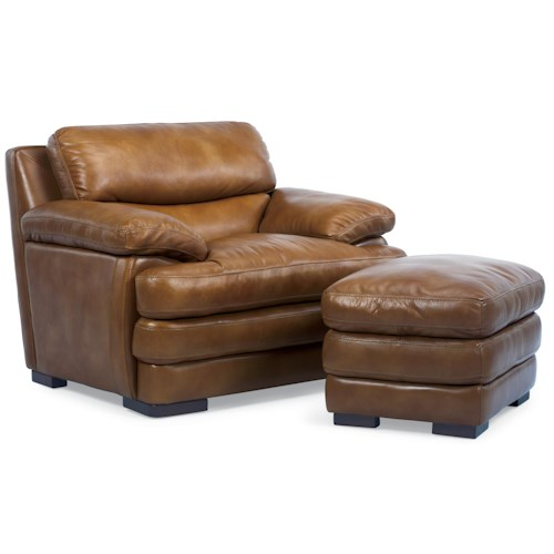 Flexsteel Sofa Locations: Dylan Leather Chair & Ottoman