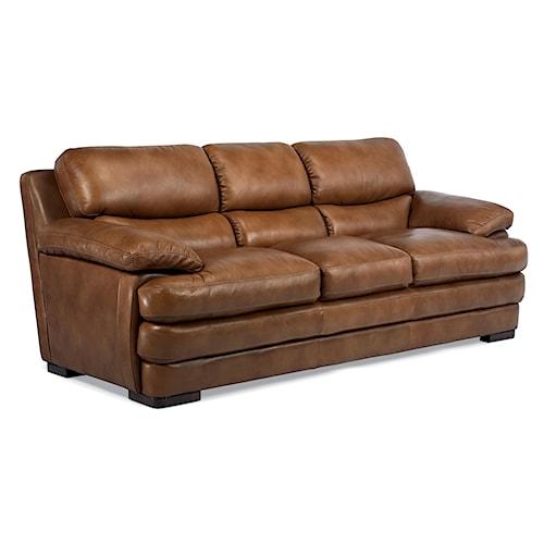 Flexsteel Latitudes Dylan Leather Stationary Sofa