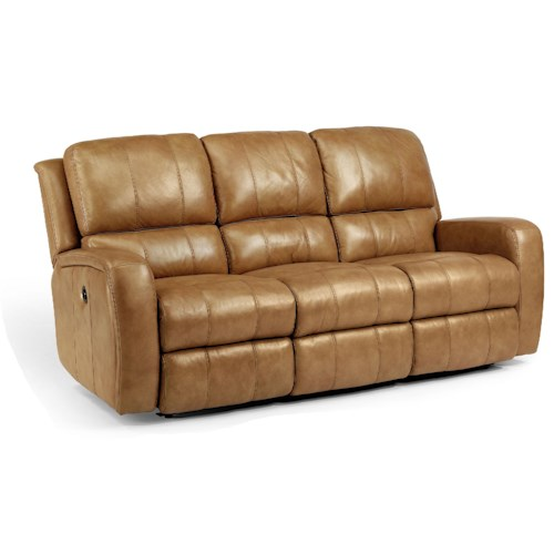 Flexsteel Latitudes Hammond Casual Double Reclining Sofa