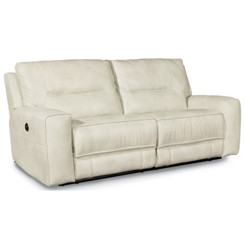 Flexsteel latitudes molino casual power reclining 2 seat for Small scale sectional sofa recliner