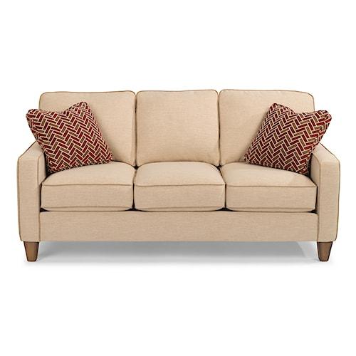 Flexsteel Furniture Uk: Flexsteel Race Point Stationary Sofa With Reversible Seat