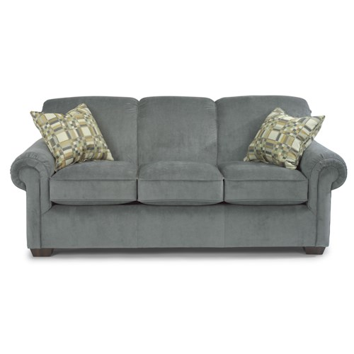 Flexsteel Sofa Locations: Flexsteel Main Street Rolled Arm Queen Sofa Sleeper