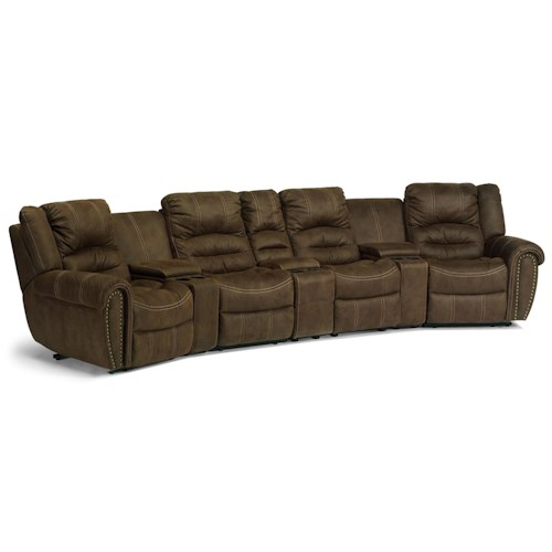 Flexsteel Furniture Uk: New Town Curved Reclining Sectional