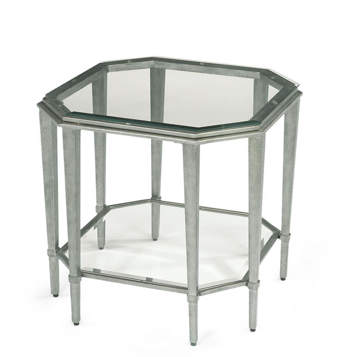 Flexsteel Prism Contemporary Glass Lamp Table Pilgrim
