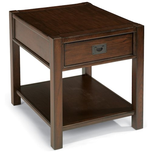 Flexsteel Sonoma End Table With One Drawer Colder S