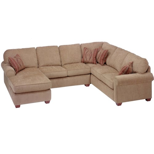 Flexsteel thornton 3 piece sectional with chaise rotmans for 3 piece sectional sofa with chaise