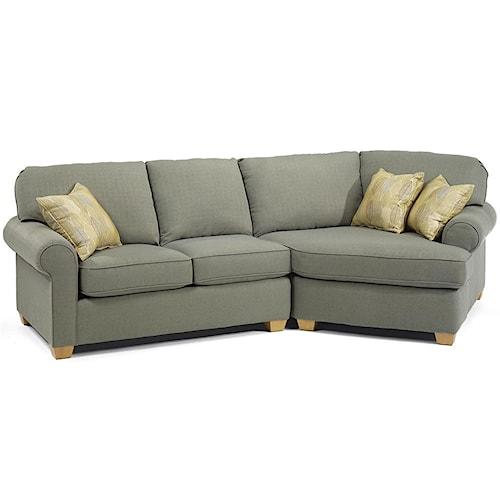 Flexsteel Thornton 2 Piece Sofa Sectional Godby Home
