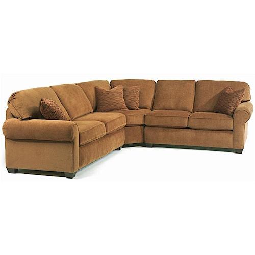 Flexsteel thornton 3 piece sectional sofa jordan 39 s home for Furniture 0 down