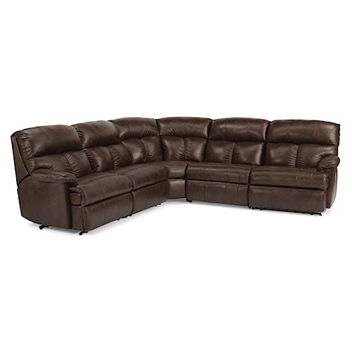 Flexsteel Triton Reclining Sofa Sectional Belfort