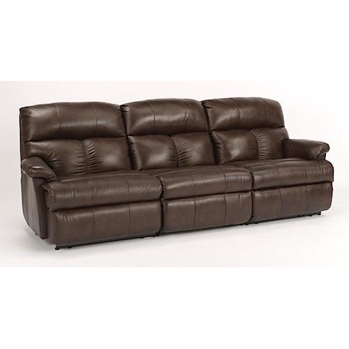 Flexsteel Electric Sofa: Flexsteel Triton Three Piece Reclining Sectional Sofa With