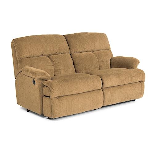 Flexsteel Electric Sofa: Flexsteel Triton Casual Power Reclining Studio Sofa
