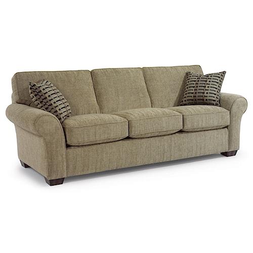 "Flexsteel Wrangler Sofa: Flexsteel Vail 91"" Vail Three Cushion Sofa"