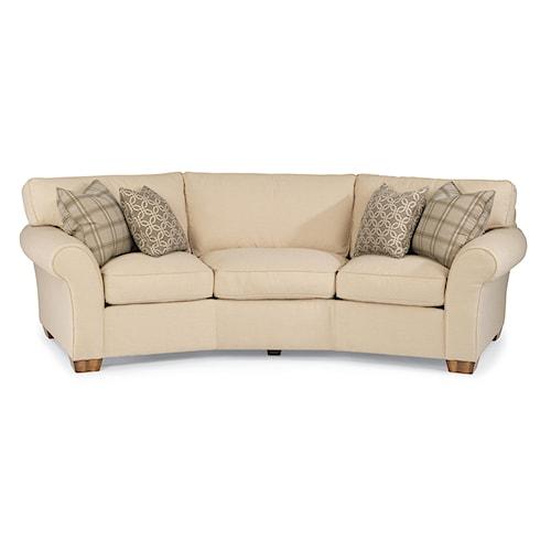 """Flexsteel Vail Sofa Price: Flexsteel Vail 107"""" Vail Conversation Sofa"""