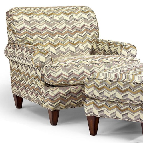 Flexsteel Venture Transitional Chair With Rolled Arms And
