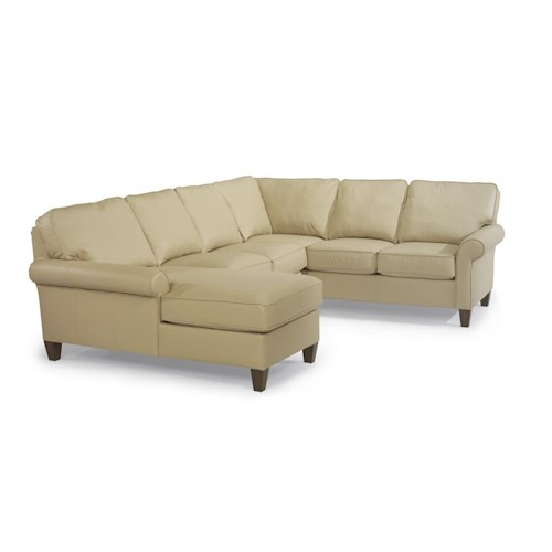 Flexsteel Westside Casual Style Sectional Leather Sofa Dunk Bright Furniture Sofa Sectional