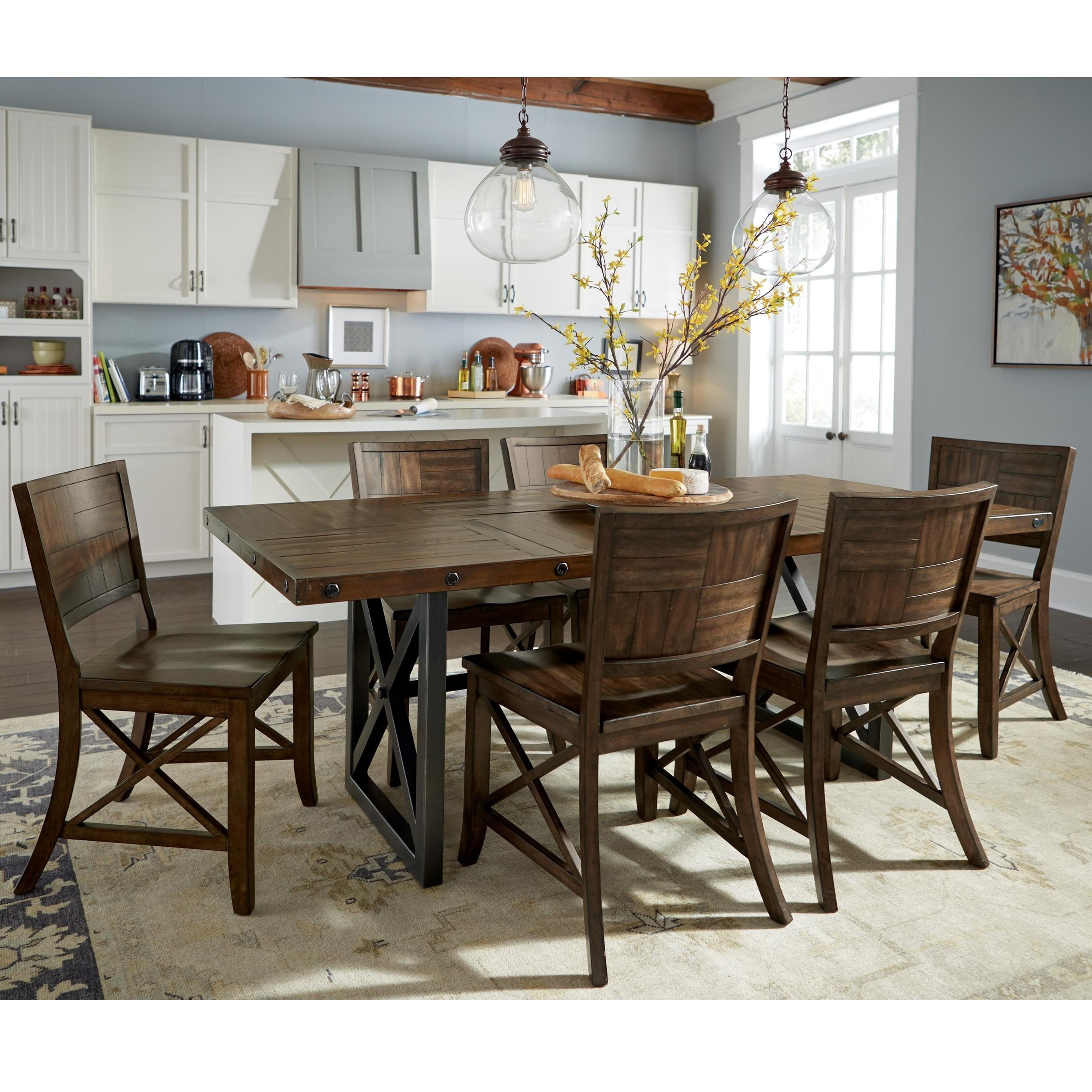 Flexsteel Wynwood Collection Carpenter 7 Piece Dining Set  : carpenter 905884015w6722 8316x840 b1jpgscalebothampwidth500ampheight500ampfsharpen25ampdown from www.pilgrimfurniturecity.com size 500 x 500 jpeg 65kB