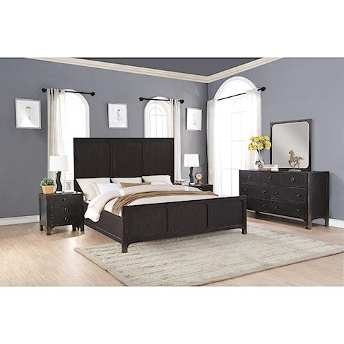 Flexsteel Wynwood Collection Homestead Rustic Queen Bedroom Group Pilgrim F