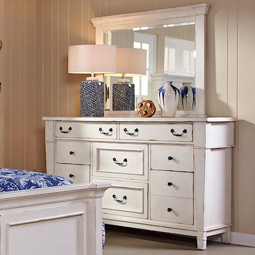 Folio 21 stoney creek drawer dresser w mirror wilson 39 s for Stoney creek bedroom set