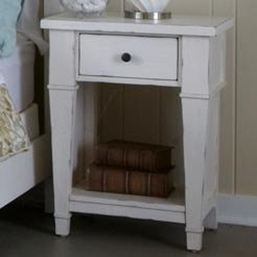 Folio 21 Stoney Creek Cottage Nightstand With One Drawer And Shelf Boulevard Home Furnishings