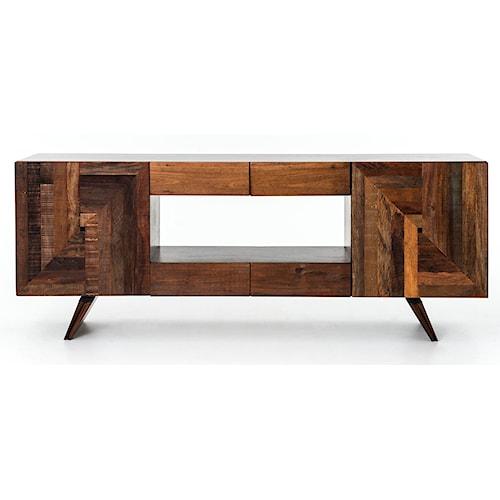 Four Hands Bina Rex Modern Media Cabinet W Reclaimed Wood Belfort Furniture Tv Stands