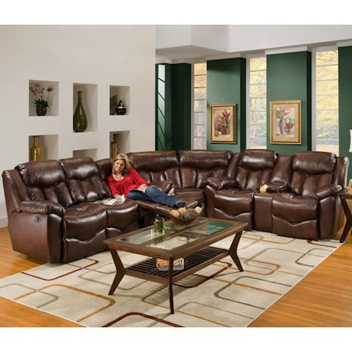 Franklin 564 3 Piece Reclining Sectional Sofa Olinde 39 S Furniture Reclining Sectional Sofa