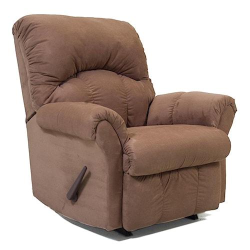 Chaise rocker recliner with headrest rocker recliners by for Chaise x rocker