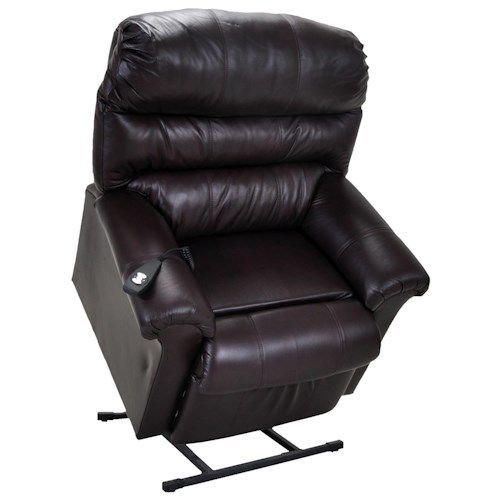 lift recliner franklin lift and power recliners chocolate leather lift