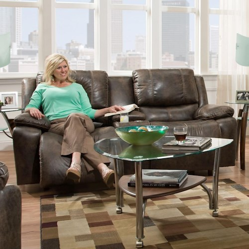 Franklin Montana Power Reclining Loveseat With Power Backrest Miskelly Furniture Reclining