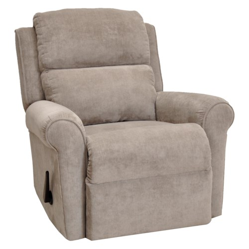 Franklin franklin recliners serenity rocker recliner with casual style and round arms old - Stylish rocker recliner ...