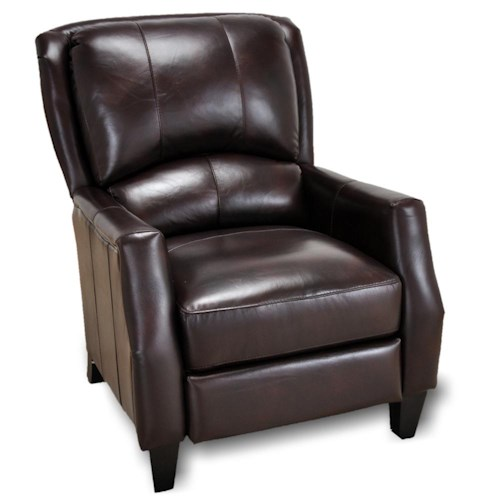 Franklin Franklin Recliners Cosmo Push Back Recliner With Wooden Legs In Cont