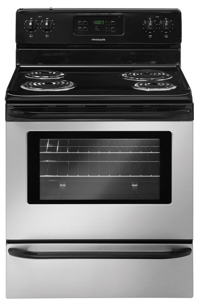 Frigidaire 30u0026quot; Freestanding Electric Range with 4 Coil Elements - Ivan Smith Furniture - Ranges ...