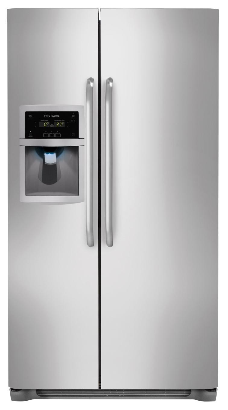Frigidaire ENERGY STARu00ae 23 Cu. Ft. Side-by-Side Counter-Depth Refrigerator with Dispenser ...