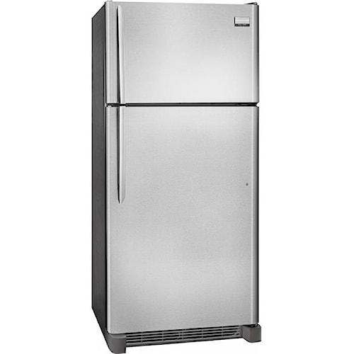 frigidaire gallery 18 cu ft top freezer refrigerator sheely 39 s furniture appliance. Black Bedroom Furniture Sets. Home Design Ideas