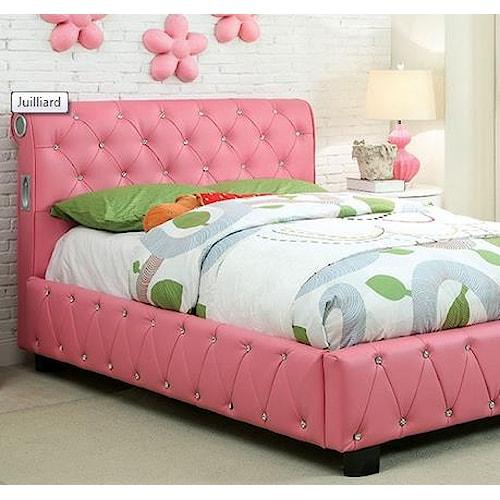 furniture of america import direct julliard collection cm7056 f bed del sol furniture. Black Bedroom Furniture Sets. Home Design Ideas