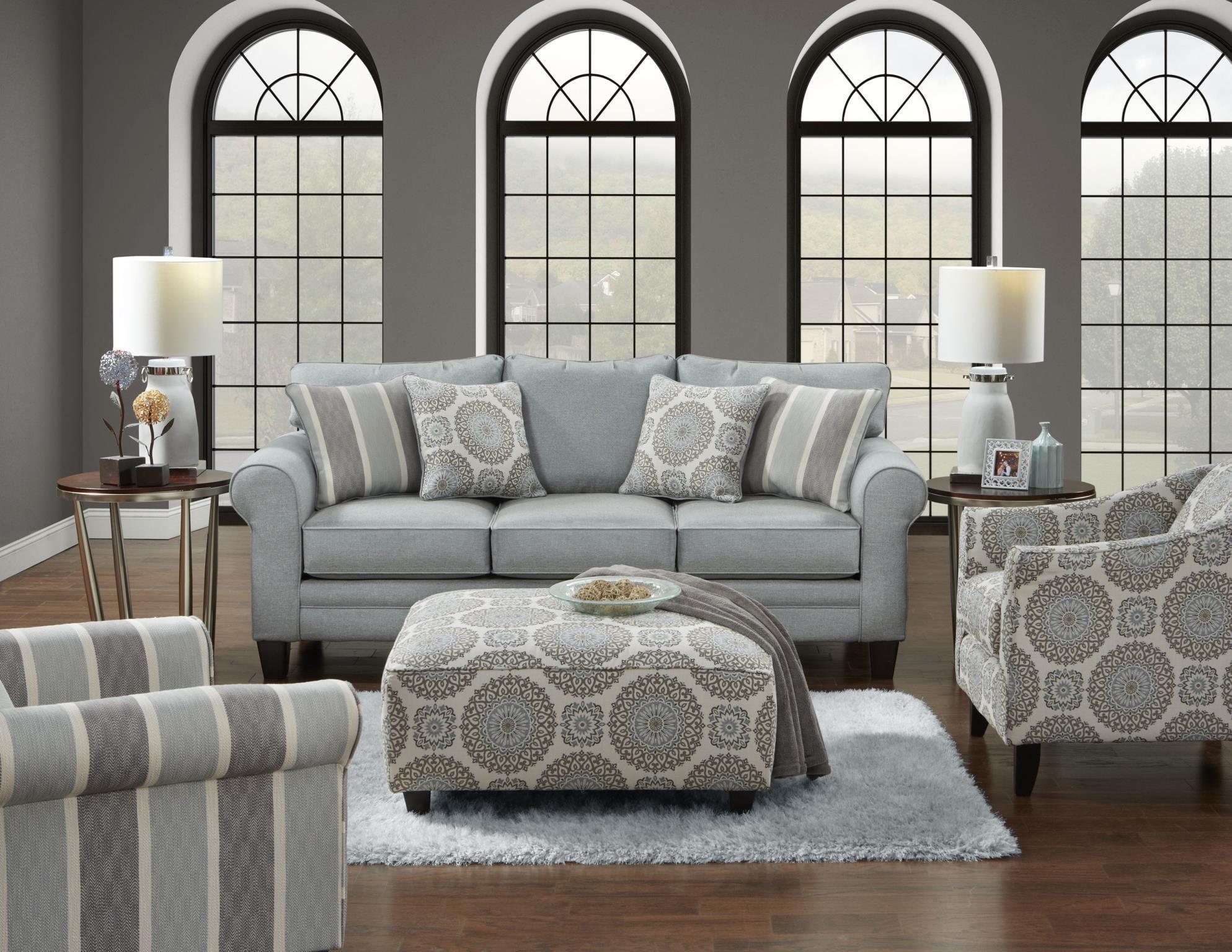 Fusion Furniture 1140 Grande Mist Living RoomFurniture Fair