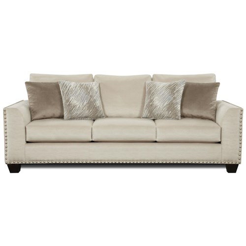 Living Room Ideas To Steal For Comforting Vibe Found In: Sofa With Flared Arms And Nailhead Trim
