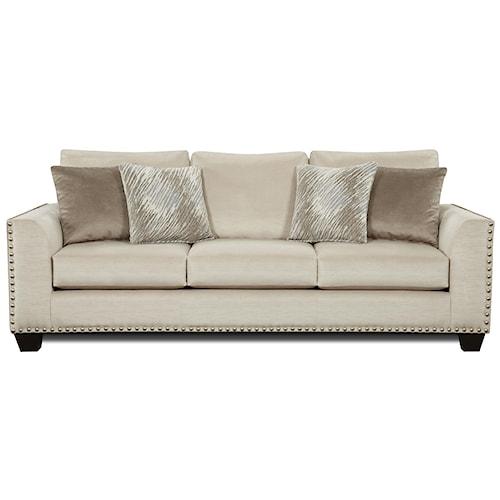 Fusion Furniture 1460 Sofa With Flared Arms And Nailhead