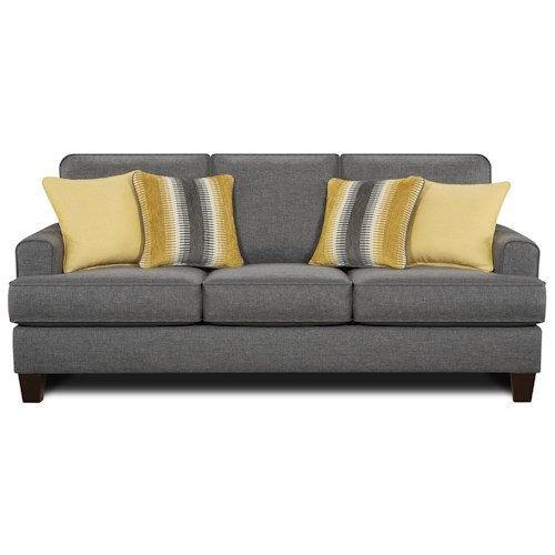 Fusion Furniture 2600 Contemporary Sofa With Small Track