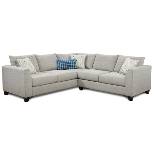 Fusion furniture 2800 2 piece corner sectional furniture for Sectional sofa furniture fair