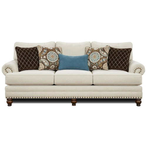 Traditional Sofa With Nailhead Trim 2820 By Fusion