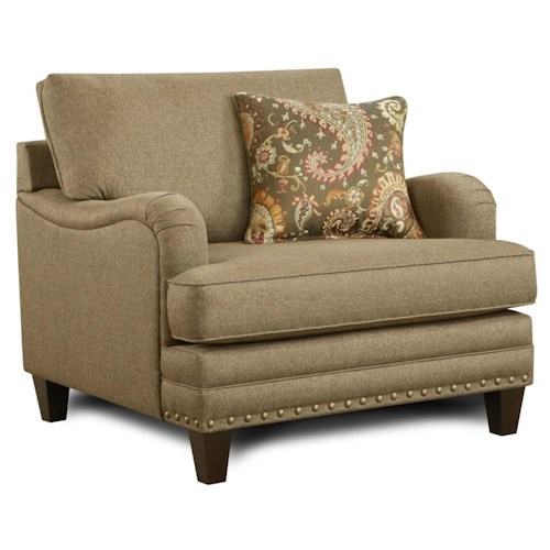 Fusion Furniture 5960 Transitional Chair With English