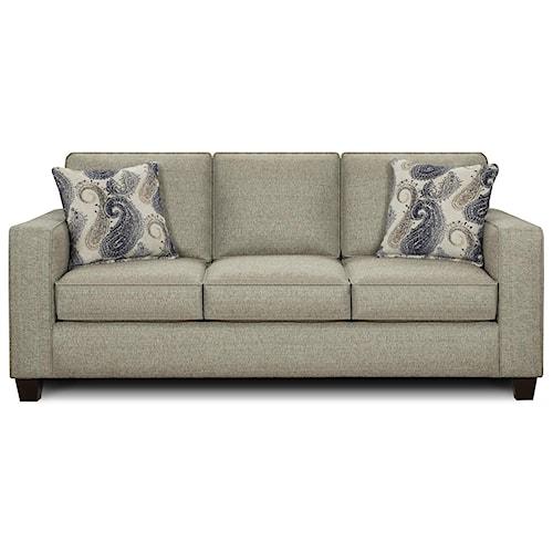 Fusion Furniture 3560 Casual Three Cushion Sofa Miskelly