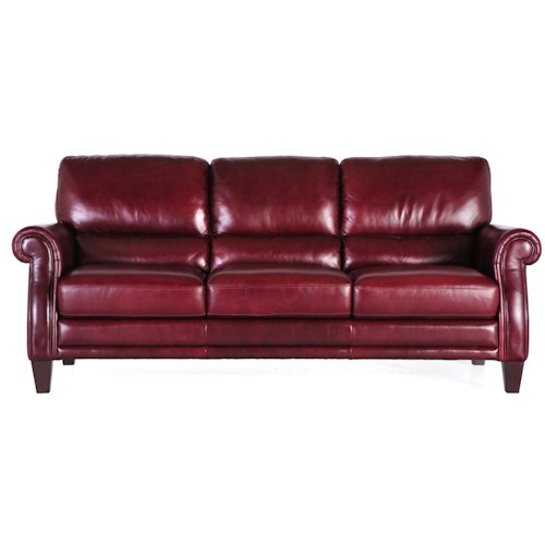 7203 Three Piece Sectional Sofa By Futura Leather: Futura Leather 7304 Three Seat Leather Sofa